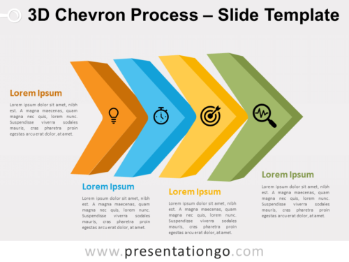 Free 3D Chevron Process for PowerPoint