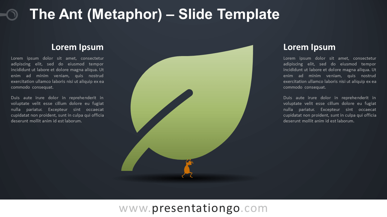 Free The Ant (Metaphor) Infographic for PowerPoint and Google Slides
