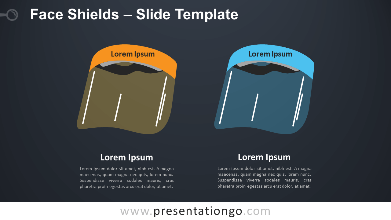 Free Face Shields Infographic for PowerPoint and Google Slides