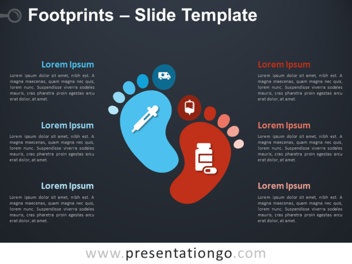 Free Footprints Diagram for PowerPoint