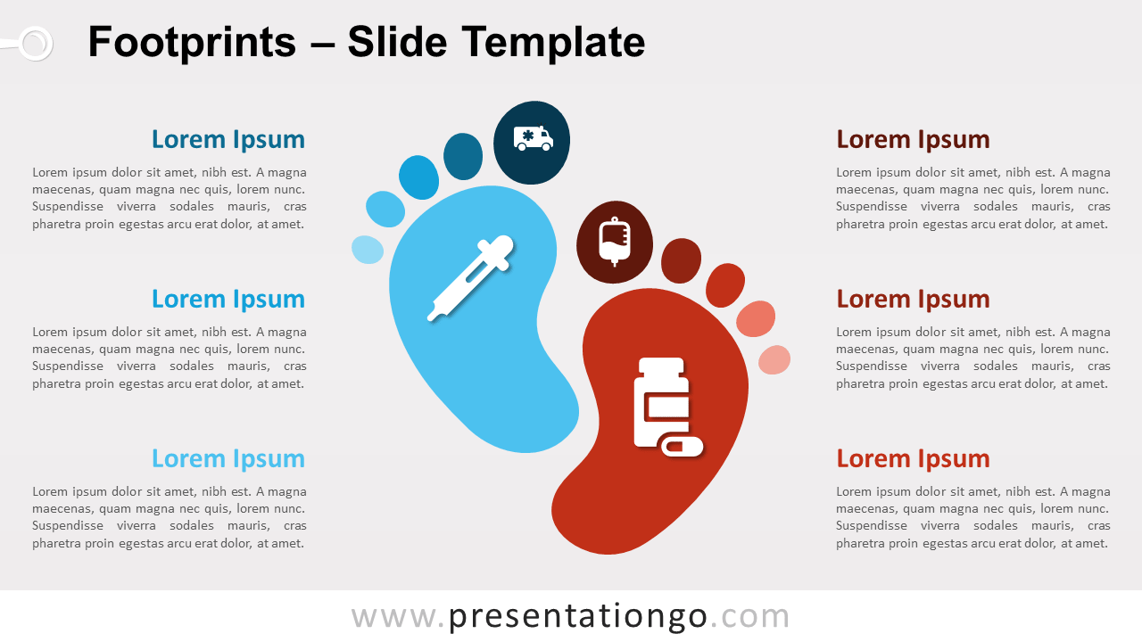 Free Footprints for PowerPoint and Google Slides