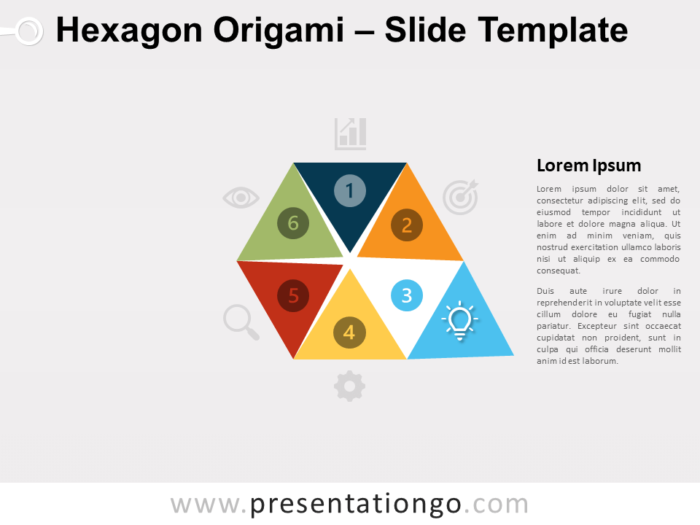 Free Hexagon Origami Diagram Infographic for PowerPoint