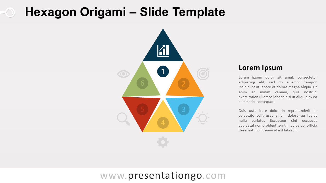 Free Hexagon Origami Diagram for PowerPoint and Google Slides