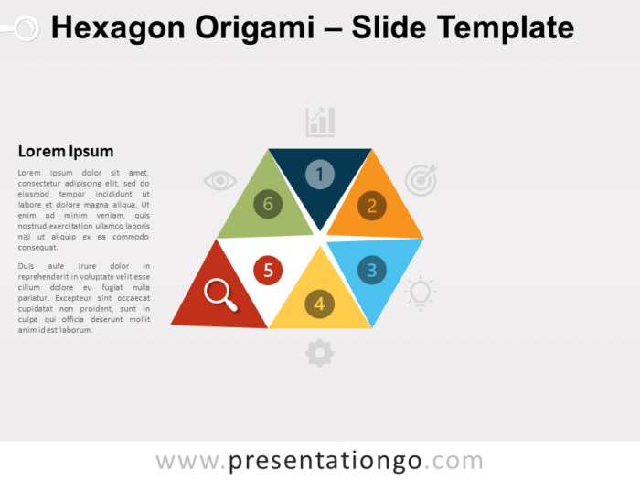 Free Hexagon Origami Diagram Template for PowerPoint
