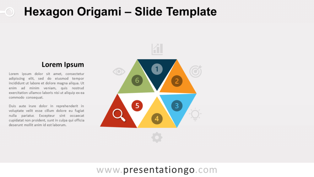 Free Hexagon Origami Diagram Template for PowerPoint and Google Slides