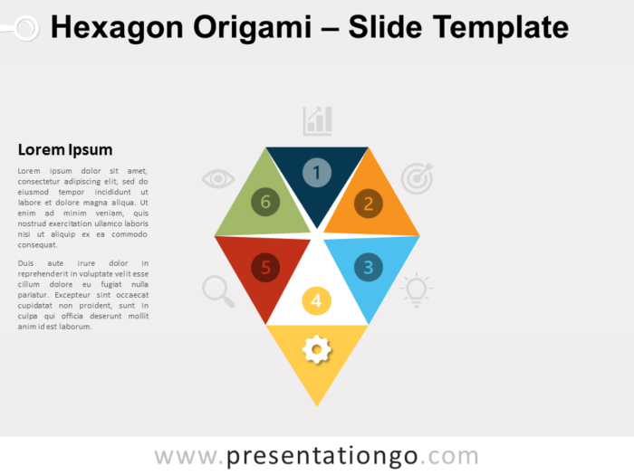Free Hexagon Origami Template for PowerPoint