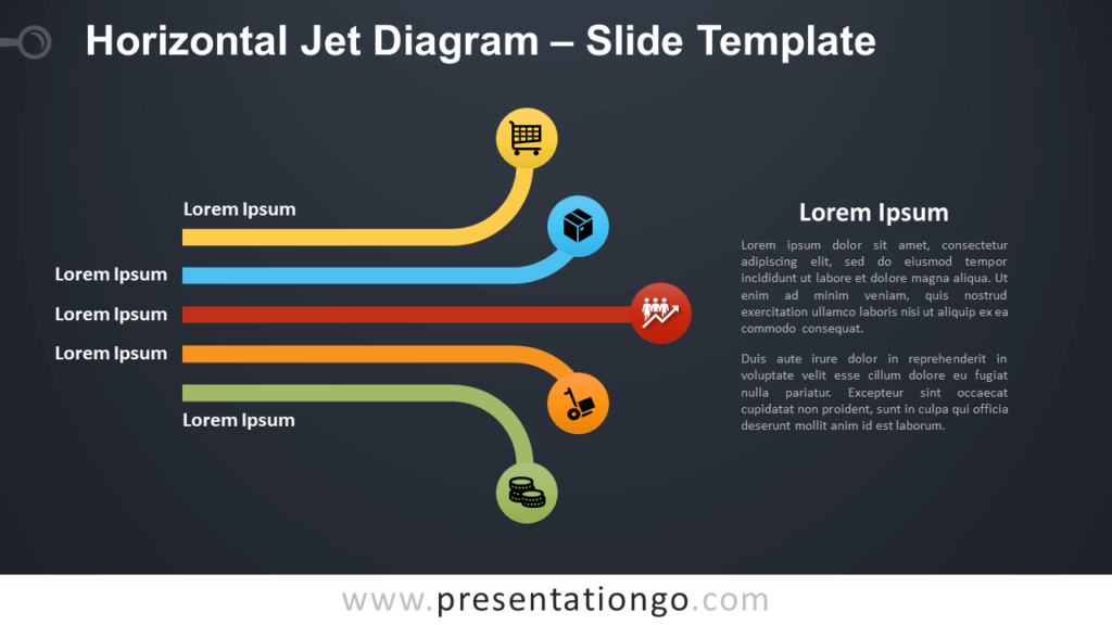 Free Horizontal Jet Diagram Infographic for PowerPoint and Google Slides