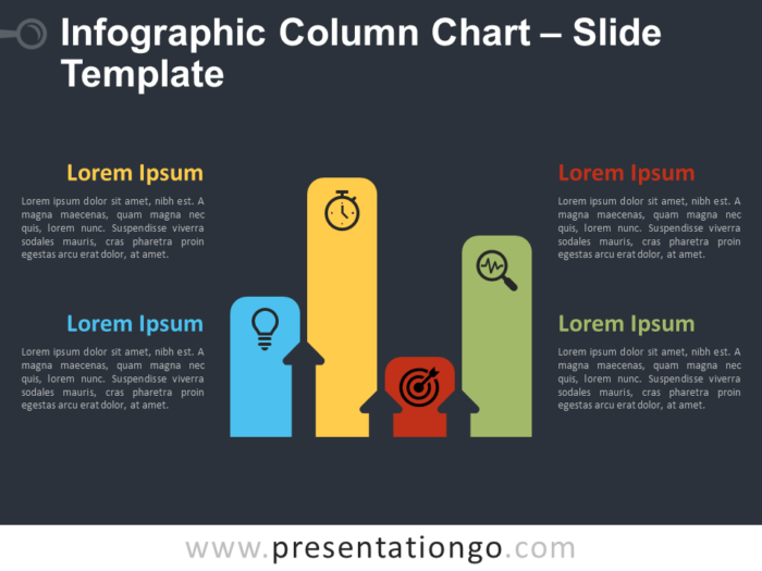 Free Infographic Column Chart Diagram for PowerPoint