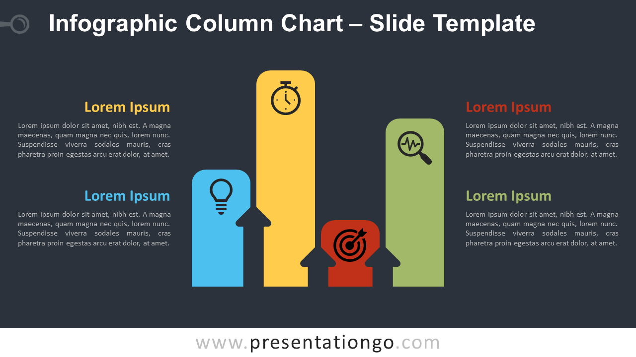 Free Infographic Column Chart Diagram for PowerPoint and Google Slides