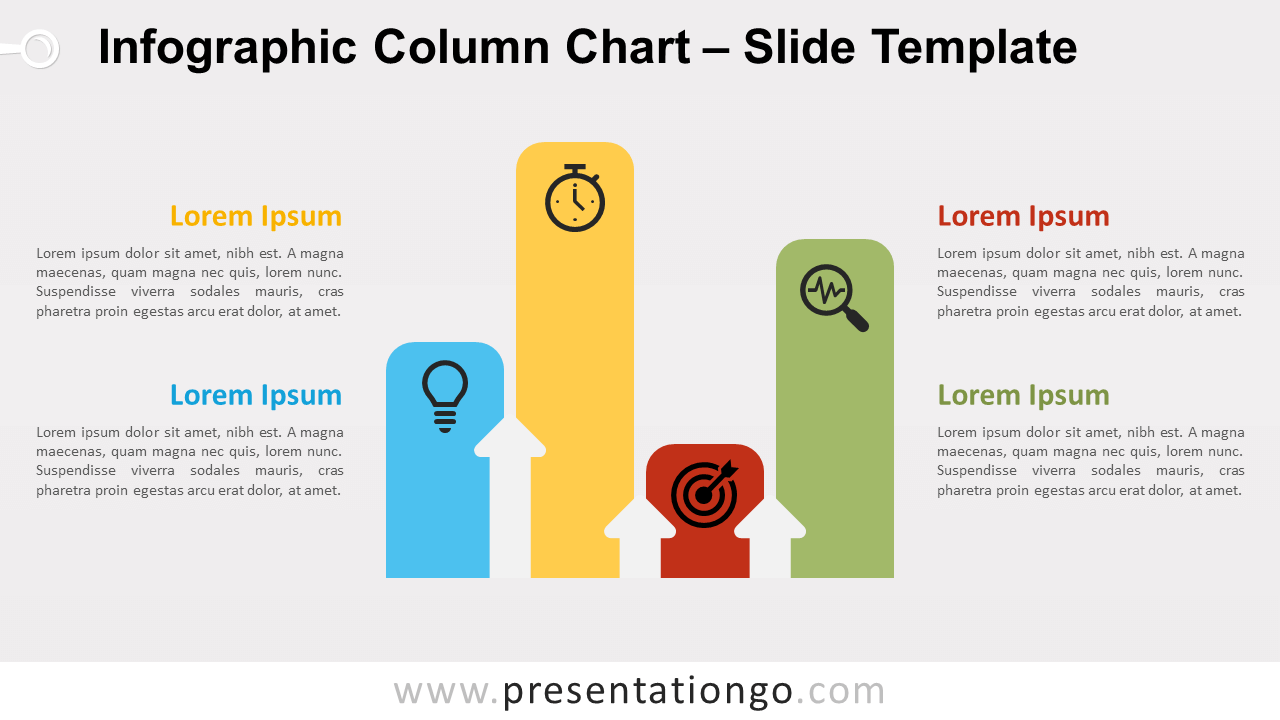 Free Infographic Column Chart for PowerPoint and Google Slides