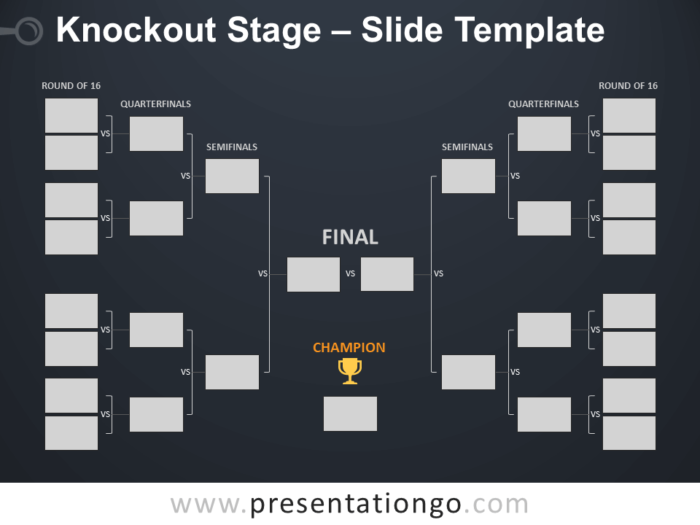 Free Knockout Stage Table for PowerPoint