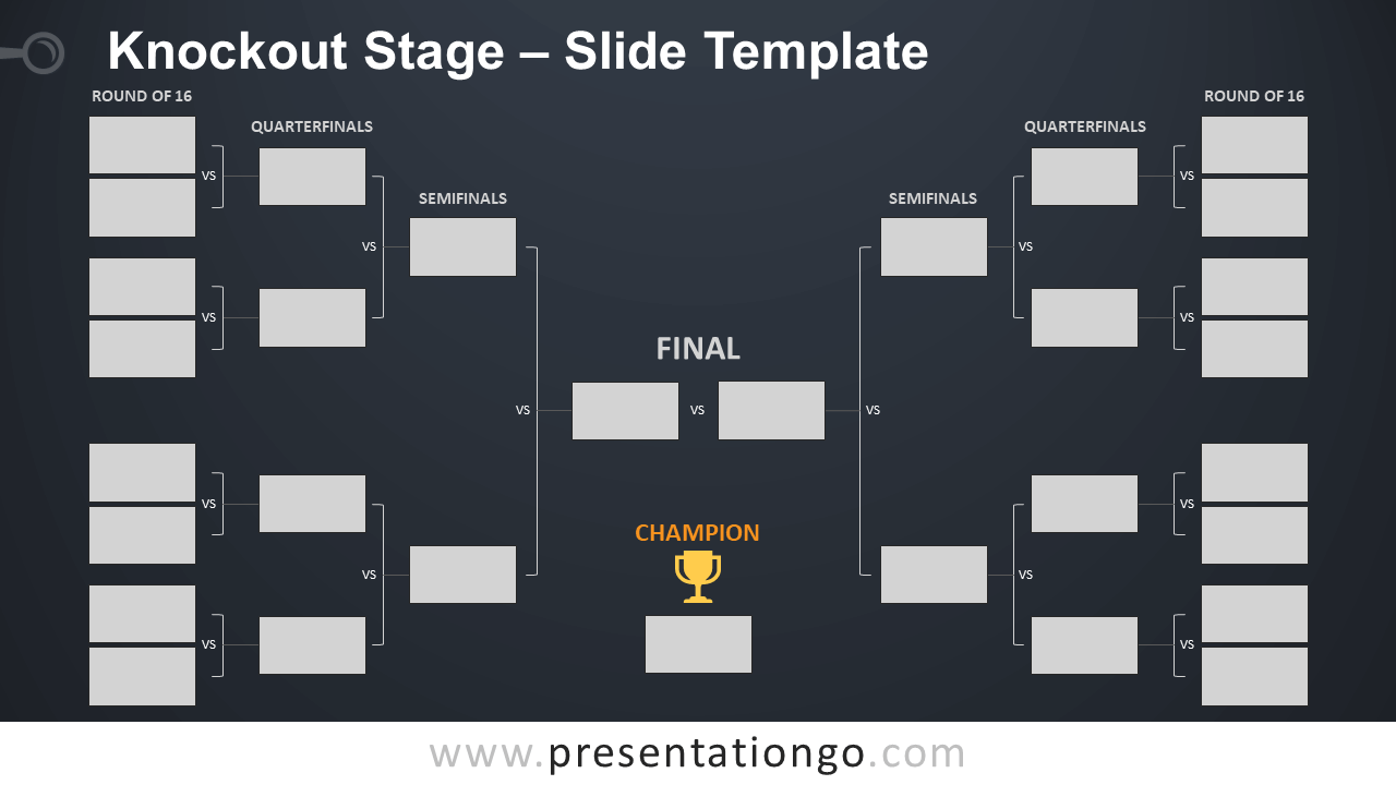 Free Knockout Stage Table for PowerPoint and Google Slides