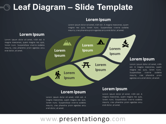Free Leaf Diagram Infographic for PowerPoint