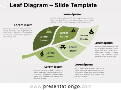Free Leaf Diagram for PowerPoint