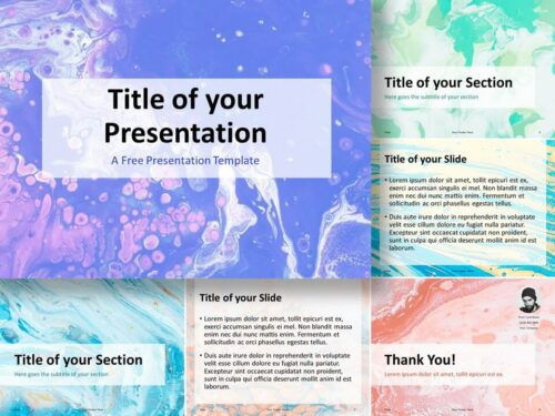 Free Liquid Marbling Paint Template for PowerPoint and Google Slides