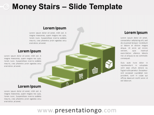 Free Money Stairs for PowerPoint