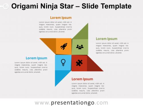 Free Origami Ninja Star for PowerPoint