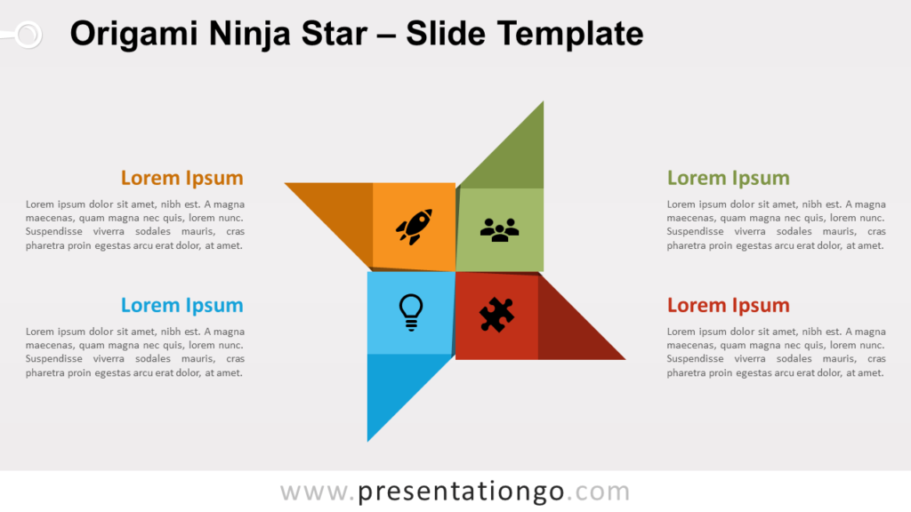 Free Origami Ninja Star for PowerPoint and Google Slides