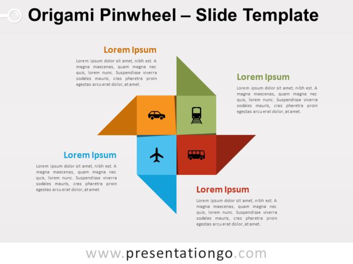 Free Origami Pinwheel for PowerPoint