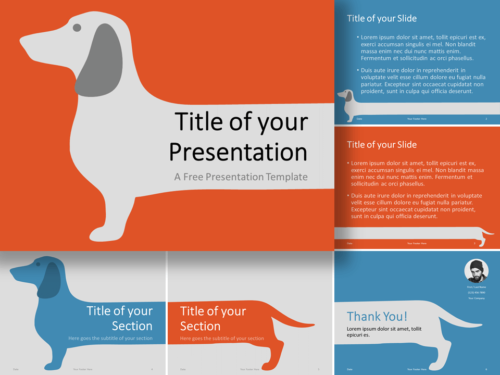 Free Sausage Dog Template for PowerPoint and Google Slides