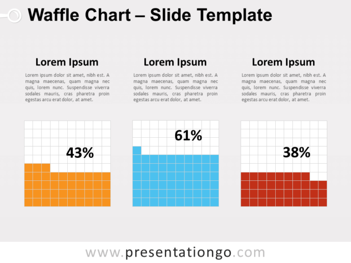 Free Waffle Chart for PowerPoint