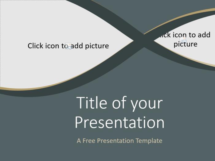 Free Eleganza Template for Google Slides - Cover Slide