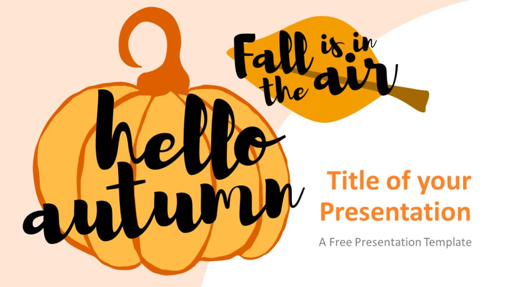 Free Fall Template for Google Slides - Cover Slide