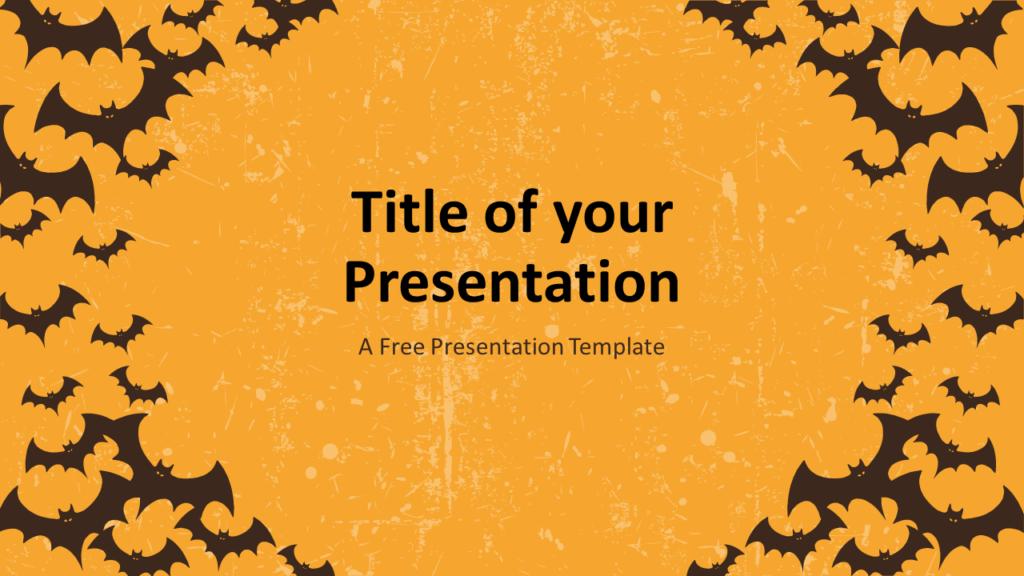 Free SPOOKY Template for Google Slides - Cover Slide