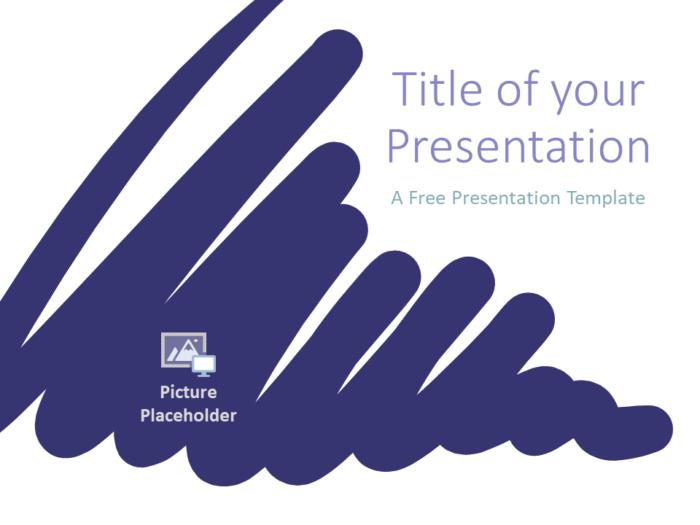 Free Strokes Template for Google Slides - Cover Slide