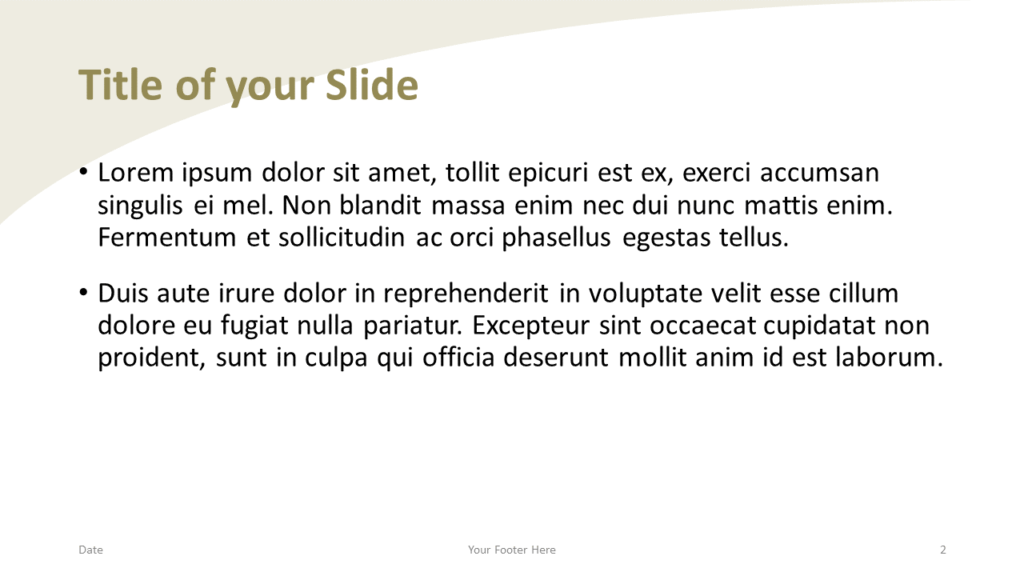 Free Fall Template for Google Slides – Title and Content Slide (Variant 1)
