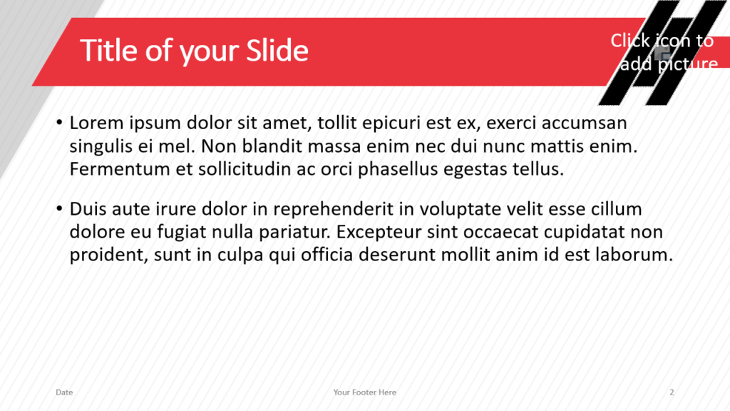 Free Stripes Template for Google Slides – Title and Content Slide (Variant 1)