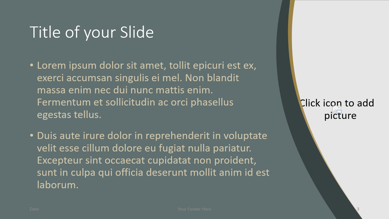 Free Eleganza Template for Google Slides – Title and Content Slide (Variant 2)