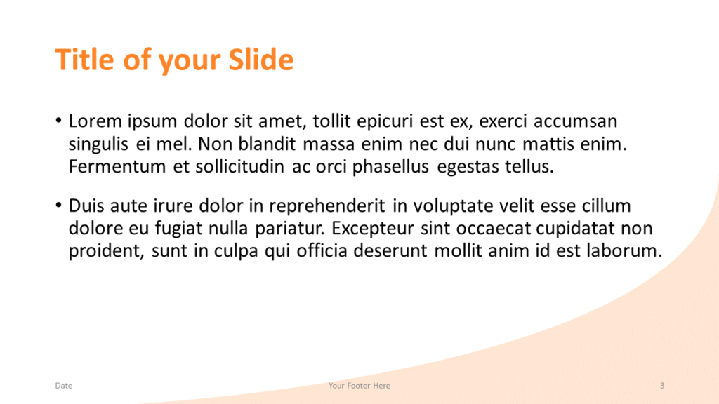 Free Fall Template for Google Slides – Title and Content Slide (Variant 2)