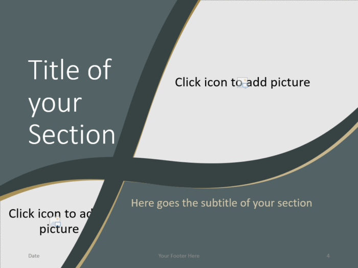 Free Eleganza Template for PowerPoint – Section Slide (Variant 1)
