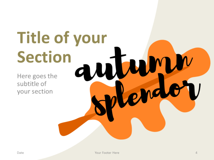 Free Fall Template for PowerPoint – Section Slide (Variant 1)