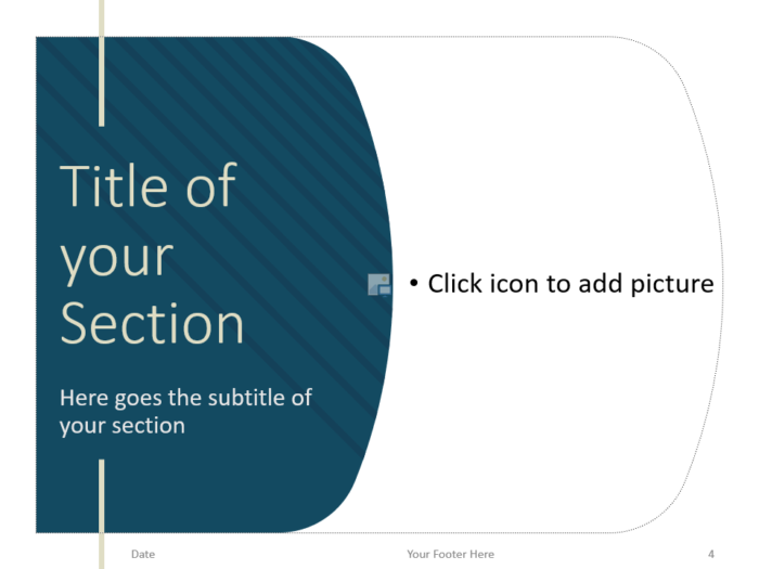 Free Imperial Template for PowerPoint – Section Slide (Variant 1)
