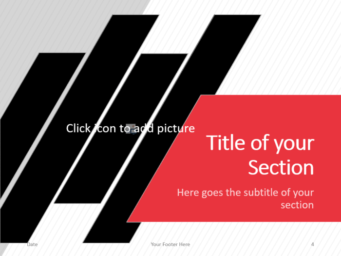 Free Stripes Template for PowerPoint – Section Slide (Variant 1)