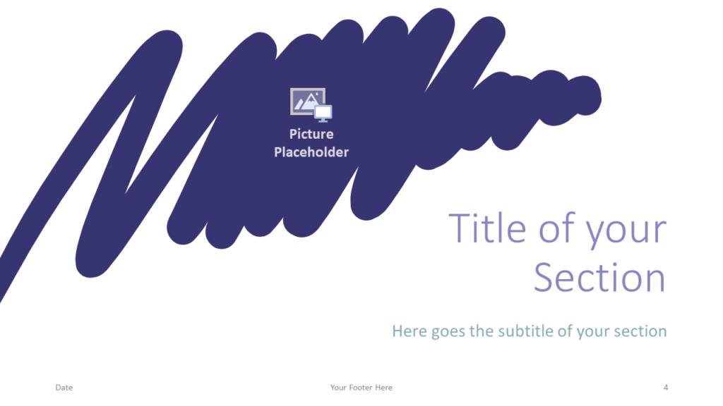 Free Strokes Template for Google Slides – Section Slide (Variant 1)