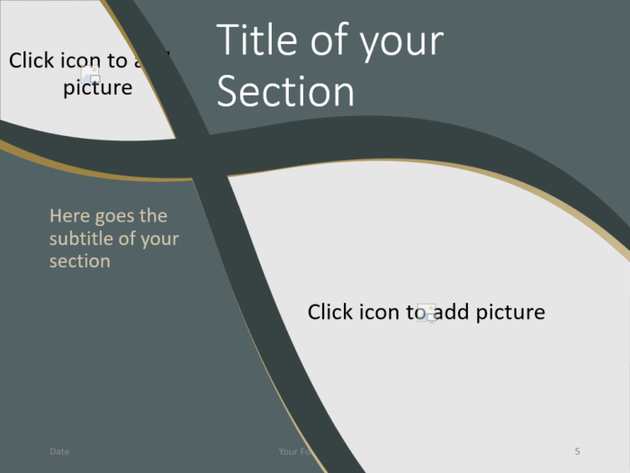 Free Eleganza Template for PowerPoint – Section Slide (Variant 2)