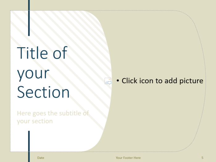 Free Imperial Template for PowerPoint – Section Slide (Variant 2)
