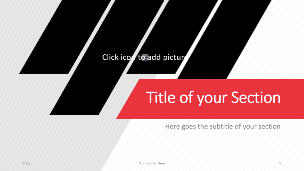 Free Stripes Template for Google Slides – Section Slide (Variant 2)