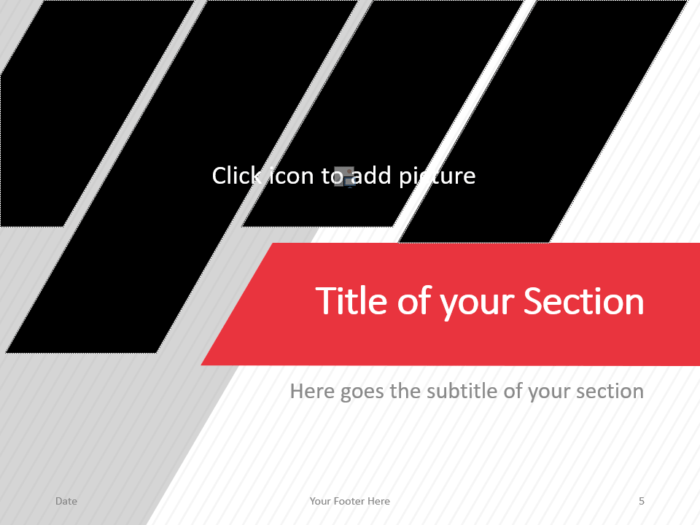 Free Stripes Template for PowerPoint – Section Slide (Variant 2)