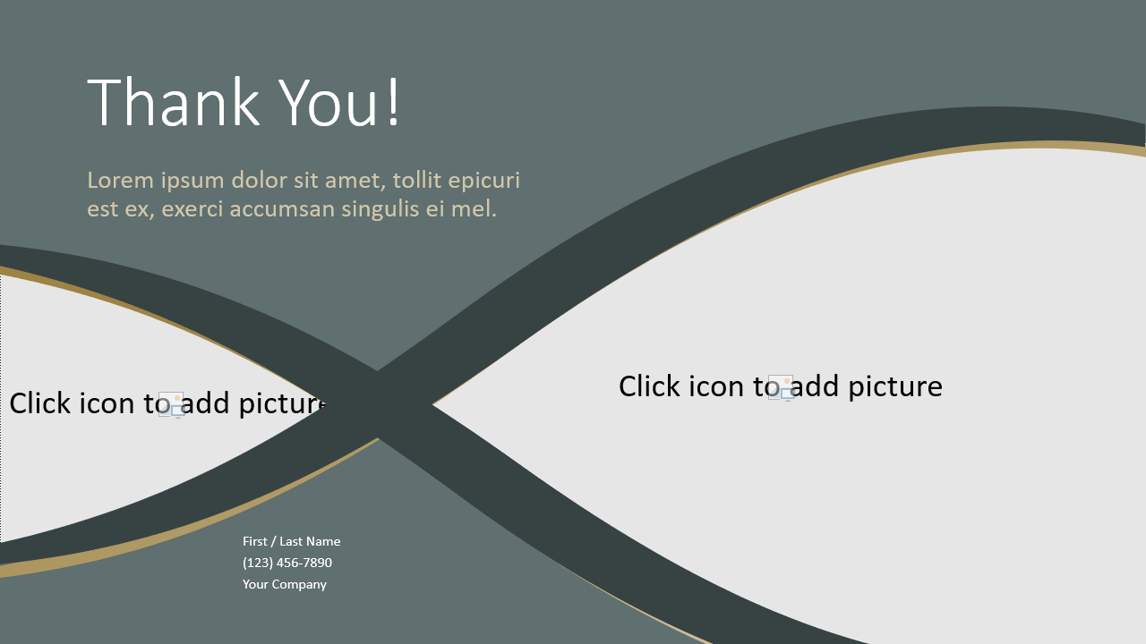 Free Eleganza Template for Google Slides - Closing / Thank you