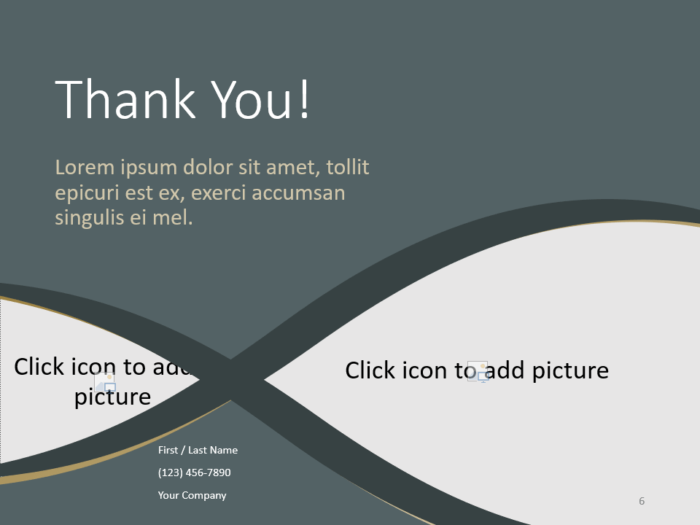 Free Eleganza Template for PowerPoint - Closing / Thank you