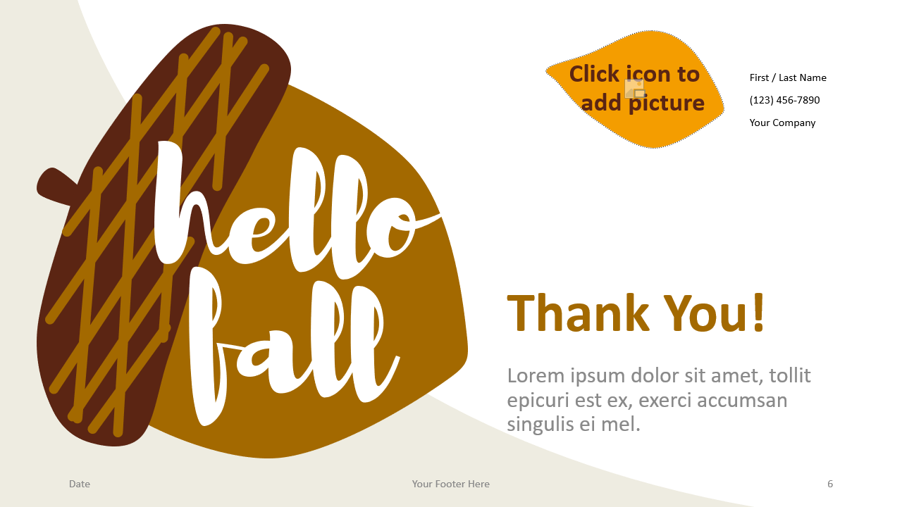 Free Fall Template for Google Slides - Closing / Thank you