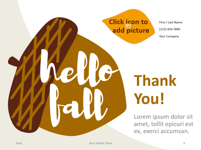 Free Fall Template for PowerPoint - Closing / Thank you