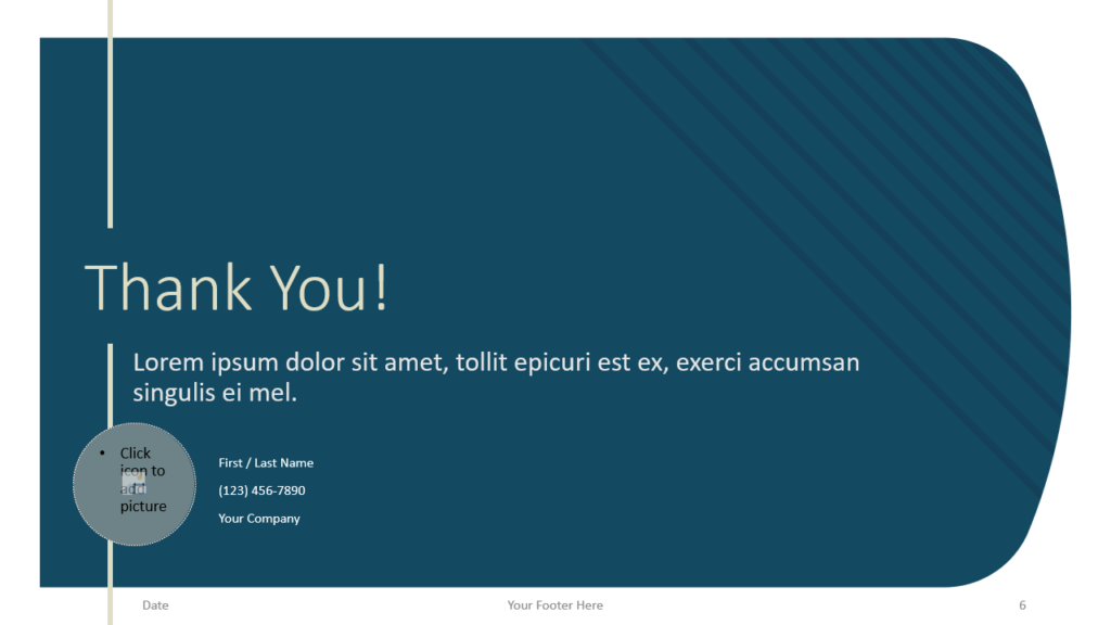 Free Imperial Template for Google Slides - Closing / Thank you