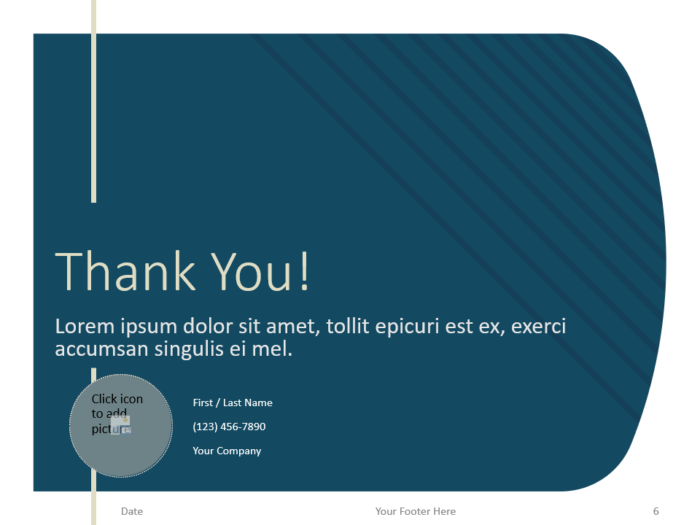 Free Imperial Template for PowerPoint - Closing / Thank you