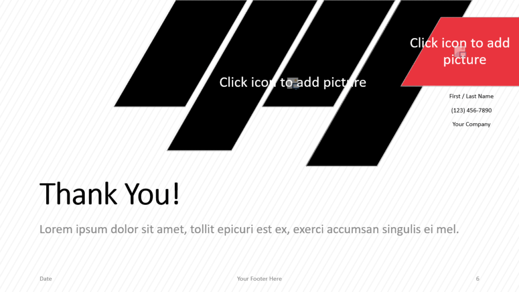 Free Stripes Template for Google Slides - Closing / Thank you