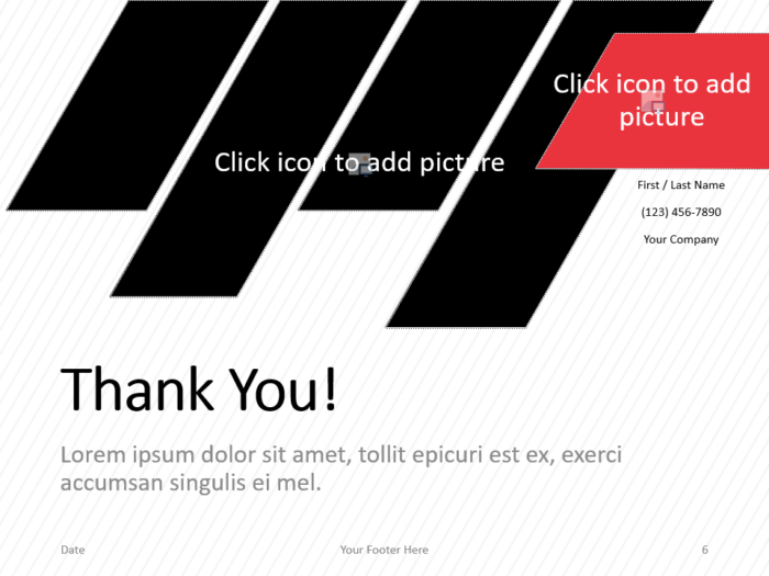 Free Stripes Template for PowerPoint - Closing / Thank you